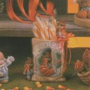 D1555 -Pumpkin Seed Packet with Scarecrows 14cm