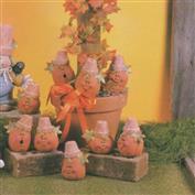D1565 -5 Crack Pot Pumpkins 13cm