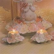 D1160 -2 Pansy Candle Cups 15cm Wide