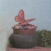 D518A -Flower & Butterfly D391 Stuffed Box 13cm Wide