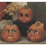 D563 -3 Character Pumpkins with Faces 10cm