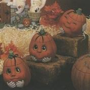 D677 -3 Happy Pumpkin Boxes with Faces 10cm