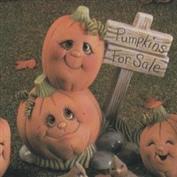 D1020 -Pumpkins with Sign (Pumpkins for Sale)13cmH