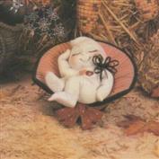 D1317B -Bedtime Bonnet Ghost in D1281 Basket 18cmLong
