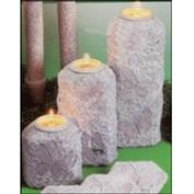 D1974ST -3 Butterfly Impressions Candleholders with Candle Cups 13, 22 & 31cm
