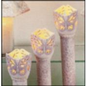 D1982 -Butterfly Garden Torch Cup with Base 8cm