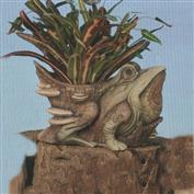 TL621 -Camoflauge Frog Planter 34cm Tall