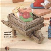 DM1983 -Wheelbarrow Planter Box 33cm Wide