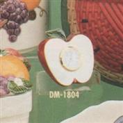 DM1804 -Half an Apple Miniature Clock 7.5cm Tall