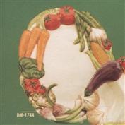 DM1744 -Vegetable Rimmed Platter 33cm Wide