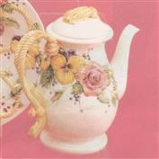 DM1843 -Roses & Pansies Coffee Pot 28cm Tall