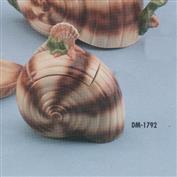 DM1792 -Seashell Sugar Bowl with Lid 13cm Tall