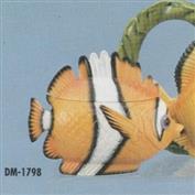 DM1798 -Tropical Fish Sugar Bowl with Lid 18cm Wide
