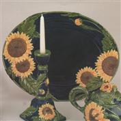 DM1888 -Sunflower Oval Platter 49cm Wide