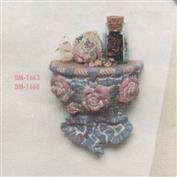 DM1663 -Roses/Ribbon Shelf Bracket 20cm High