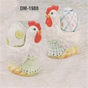 DM1988 -2 Chicken Egg Cups with eggs 10cm Wide