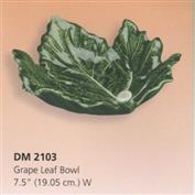 DM2103 -Grape Leaf Bowl 19cm Wide