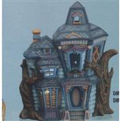 DM1705B -Haunted House Box with cut out windows 31cm Tall