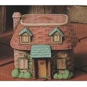 S2181 -Wicker Cottage Cannister with Lid 16cm Tall