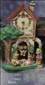 S3002 -Bears for Cottage Pendulum Clock S3001