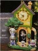 S3007 -Bunnies for Cottage Pendulum Clock S3001