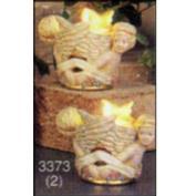 S3373 -2 Small Cherub Nut Cups no cut outs 6cm T