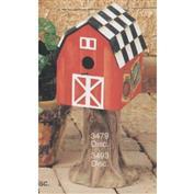 S3479A -Barn Birdhouse only -18cm Tall