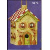 S3474 -Tissue Box House 23cm