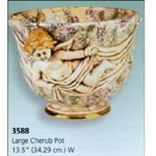 S3588 -Large Cherub Pot 34cm High