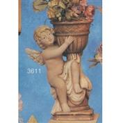 S3611C -Cherub with Vase Left with Candle Plate S3617 -28cmT