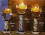 S3705 -2 Spiral Goblet Stems 12.5cm